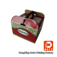 Sturdy Cardboard Fancy Wedding Cake Boxes Big Glossy Lamination Handle Manufactures
