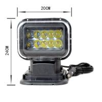 Quality 7 Inch 50W High Power Marine Led Searchlight with Remote Control for Boats for sale