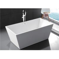 Quality Fiberglass Freestanding Rectangular Tub , Modern Stand Alone Tub In Small for sale