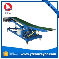 Truck Loading and unloading conveyor with height adjustable