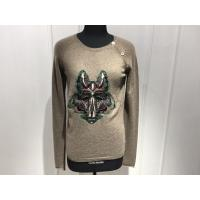 Computer Cable Knitted Womens Cashmere Sweaters Embroidered Fox Head Logo Manufactures