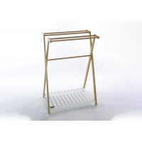 Free Standing 50KG 86cm High Bamboo Towel Rail Manufactures