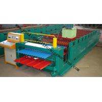 Corrugated Double Layer Roll Forming Machine , Wave Galvanized Roof Sheet Cold Roll Former Manufactures