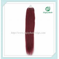 """Micro ring loop hair extensions 16""""-26""""L Malaysian remy hair 99J# color hair Manufactures"""
