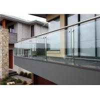 Customized 316 Stainless Steel And Glass Balcony Railings Outdoor Modern Design Manufactures