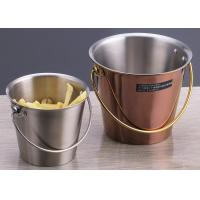Portable Gold plated Porcelain Dinnerware Sets / Round Fried Chicken Bucket Manufactures