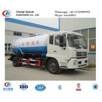 factory sale best price dongfeng tianjin 190hp vacuum sewage suction truck, hot sale dongfeng brand sludge tank truck Manufactures