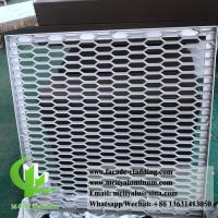 Metal Aluminum Expanded Mesh Screen For Facade Fence With Powder Coated Manufactures