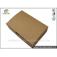 Folding Shoes Custom Corrugated Boxes 1mm 1.5mm Rigid Cardboard Thickness Manufactures