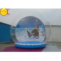 Customized Logo Holiday Inflatables , PVC Inflatable Snow Globe Decorative Holiday for Christmas Manufactures