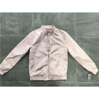 Menswear Zip PU Leather Coat Pink Polyester Nylon Bomber Jacket With Rib Detail TW69113 Manufactures