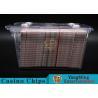 Anti - Theft Transparent 8 Decks Poker Discard Holder For Card Entertainment Manufactures