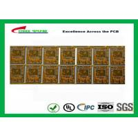 Yellow Multilayer PCB 4 Layer Bluetooth Printed Circuit Board With BGA And Half Holes Manufactures