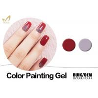 Organic UV Gel Nail Gel Paint , No Fade 3d Gel Paint Chemical Free Manufactures