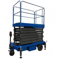 24V Mobile Scissor Lift Manganese Steel Motorized Hydraulic Lift Manufactures