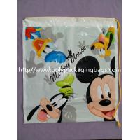 OEM ODM Printed Plastic Drawstring Backpack Bags For Gift Packaging Manufactures