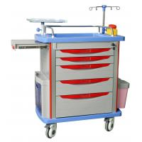 Buy cheap hospital emergency trolley luxurious abs plastic drawer cart with wheels from wholesalers