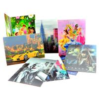 Fashion Plastic 3D lenticular greeting card for gifts Manufactures