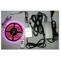 China Indoor / outdoor bright remote RGB LED Strips Light 12v 24v flexiable PCB Material on sale