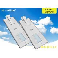 80W High Efficiency All In One Solar Street Light With Pir Motion Sensor Solar Powered Manufactures