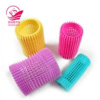 China Girls Magnetic Hook And Loop Hair Rollers / Sponge Hair Curler For Fine Hair on sale