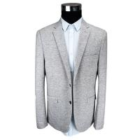 Fashion Mens Knit Blazer / Fabric Casual Blazer Grey Mel All Cotton Office Worker Manufactures