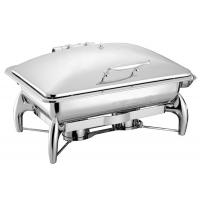Stainless Steel Chafing Dish Hydraulic Lid 9.0Ltr Food Pan Buffet Cookwares Electric or Sterno Heat Source Manufactures