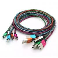1M 2M 3M Unbroken Metal Connector Fabric Nylon Braid Micro USB Cable Lead charger Cord S7 Manufactures