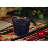 Birthday handmade blue glass candle holder , 70ml glass candle jars Manufactures