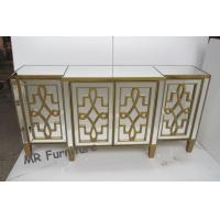 Patterns Mirror Side Board , W160 * D40 * H80cm Mirrored Buffet Cabinet Manufactures