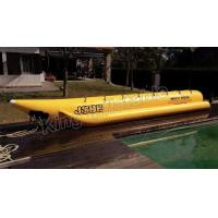 Giant Complete Yellow Inflatable Banana Boats Fly Fishing Boats With CE Manufactures