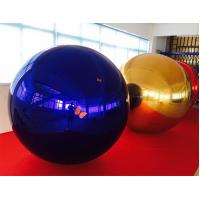 Blue 0.3MM PVC Inflatable Party Mirror Ball With Air Pump OEM Manufactures