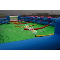 0.45mm - 0.55mm PVC  Inflatable Sports Games Human Body Limited Football Field Game for Adult Manufactures
