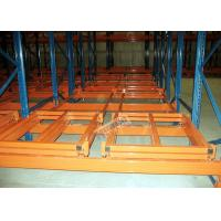 Industrial Push Back Rack Galvanised Pallet Racking Single Pallet Per Level Manufactures