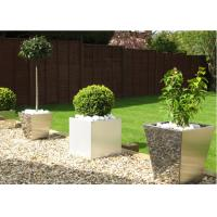 Contemporary Polished Stainless Steel Planters Decorative Customized Size Manufactures