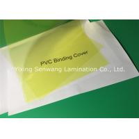 Quality Yellow Clear Plastic Report Covers 180 Micron Thickness For Reports / Proposals for sale
