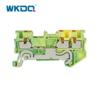 Buy cheap Multi - Conductor Small Wire Terminal Block Yellow and Green Electrical from wholesalers