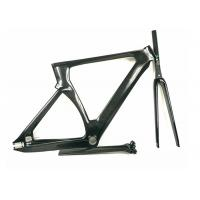 Quality Matte / Shiny 1400G 700C Carbon Track Bike Frame Aero Type T700 UD Weave for sale