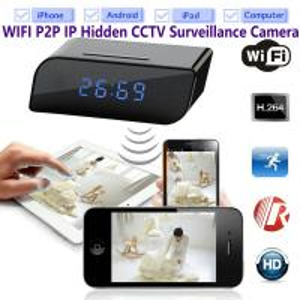T8S 720P Alarm Clock WIFI P2P IP Spy Hidden Camera Home Security CCTV Surveillance DVR with Android/iOS App Control Manufactures