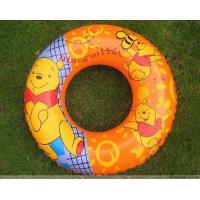 Lovely Printed Baby Inflatable Swim Ring Safe , Infant Swimming Floats Manufactures