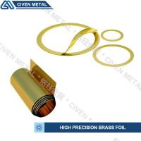 Customized Bright Golden Yellow Precision Brass Foil Roll For Laminated Shims Manufactures