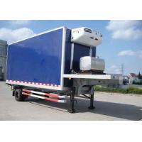 30 Foot 1 Axles Refrigerated Cargo Trailer , Transport Refrigerated Box Trailer Manufactures