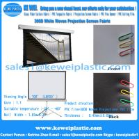 China 300D PVC Matte White Projection Screen Fabric on sale