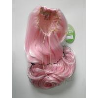 Pink Wigs Ponytails Hair Pieces Curly 24 Inches , Fake Hair Pieces For Women Manufactures
