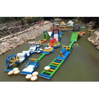 inflatable water playground water playground outdoor inflatable water obstacle course for sale Manufactures
