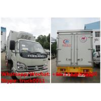 HOT SALE! Factory sale good price forland 4*2 RHD 4tons refrigerator truck with USA CARRIER reefer for Mozambique Manufactures