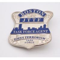 Small Size Shinny Silver Plating high quality Boston police badges Manufactures