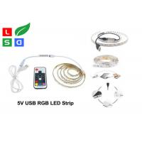 CRI >80 LED Commercial Lights USB Plug Rgb Flexible LED Strip For TV Background Manufactures