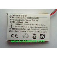Microsoft Xbox 360 Wireless Headset battery X808059-003 Manufactures