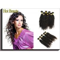 Custom Natural Black Remy Virgin Human Hair Extensions Deep Wave Manufactures